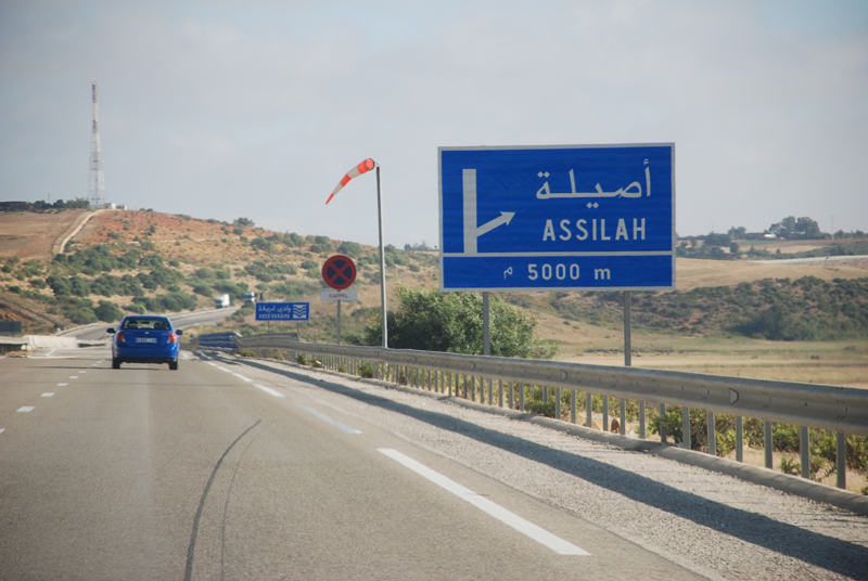 Estrada Tânger- Asilah no Marrocos