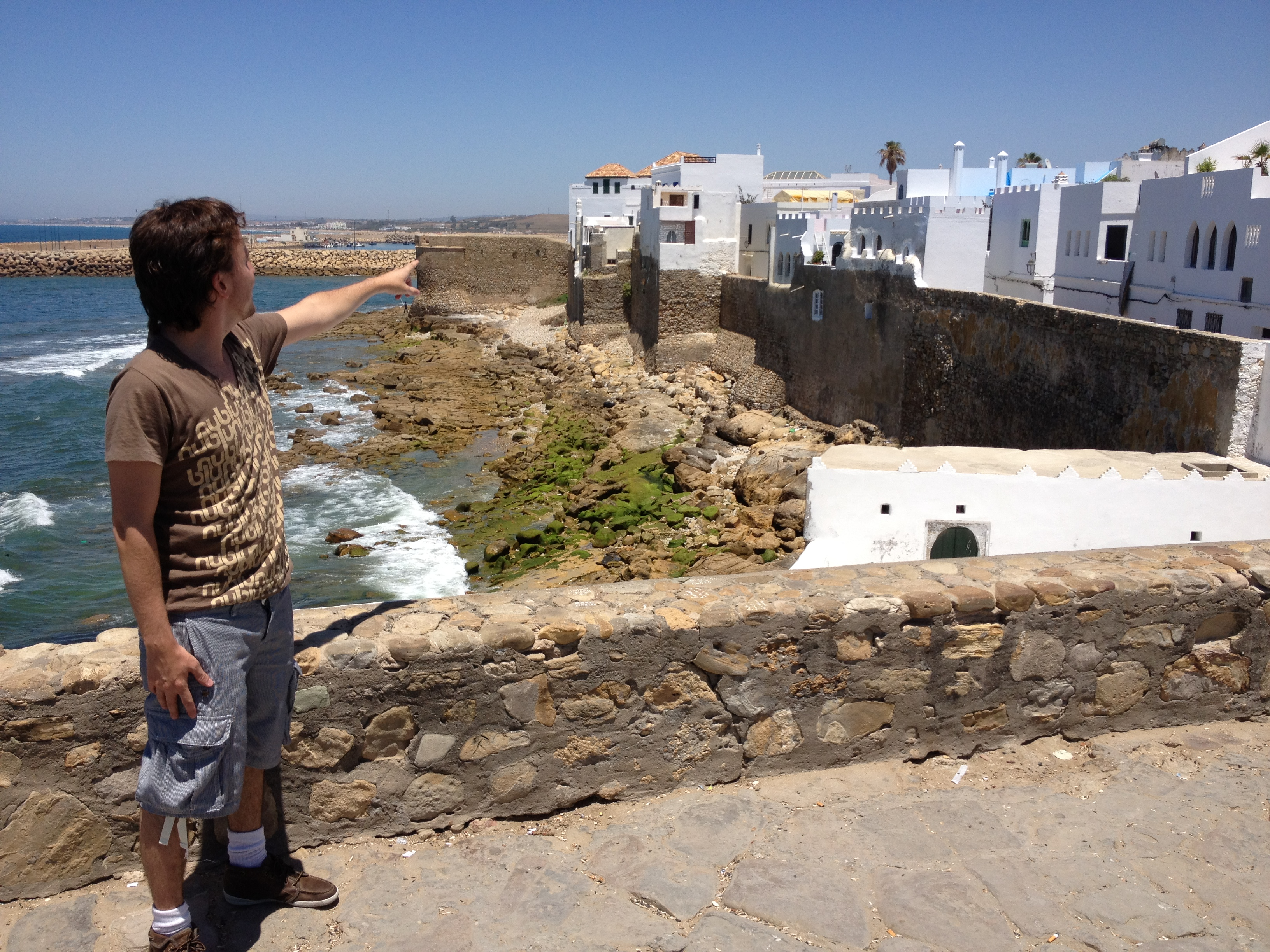 Muralhas de Assilah, no litoral Marroquino, antiga praça portuguesa