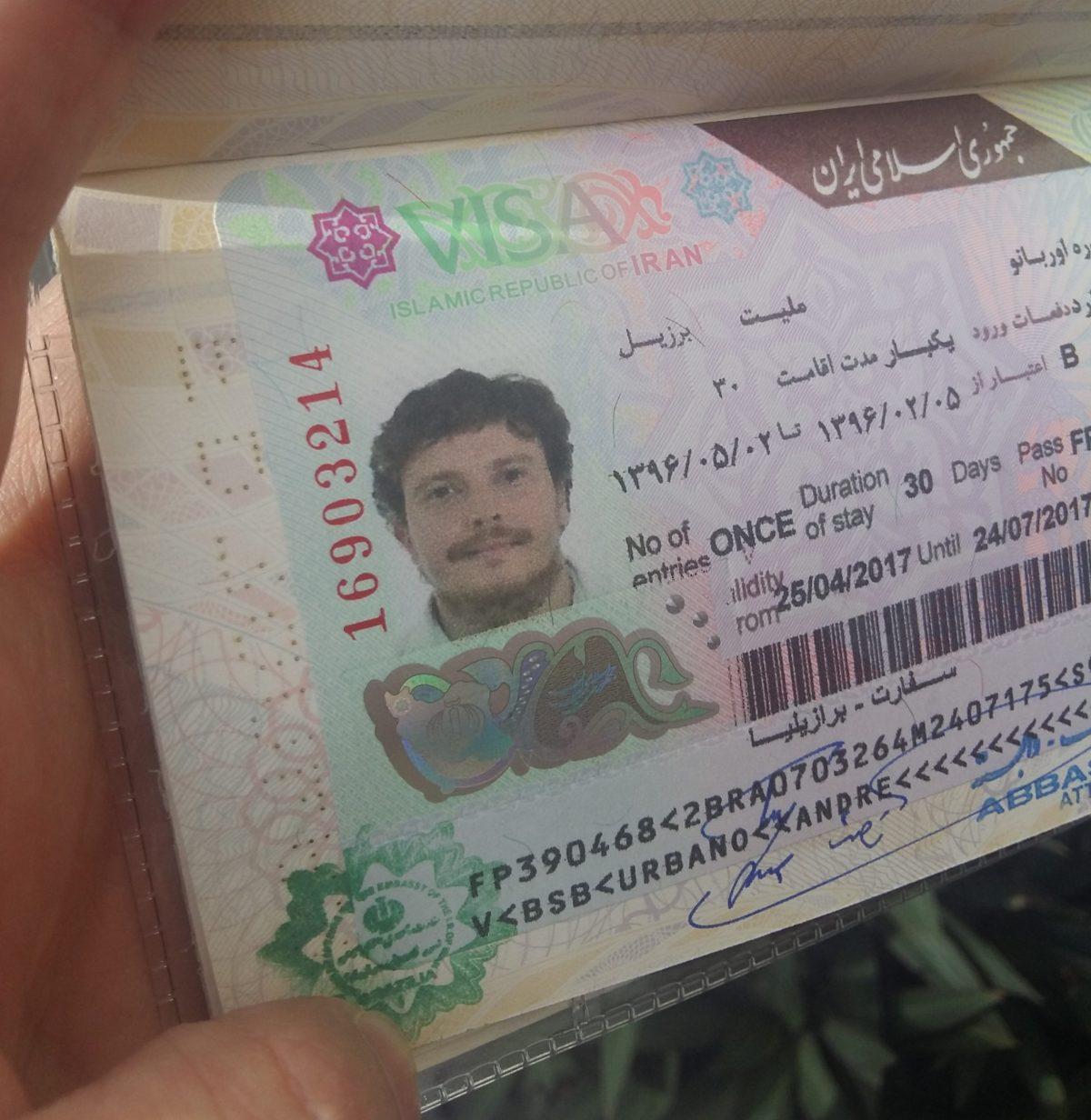 Como tirar o visto iraniano para brasileiros