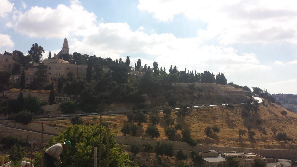 Vista do Monte das Oliveiras, Jerusalém, foto do autor, 2015