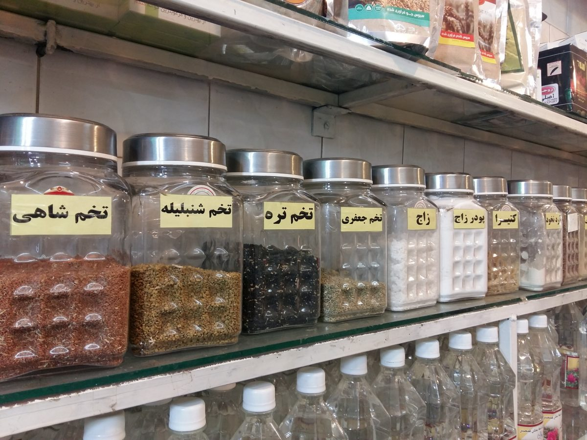 Onde comer e comprar especiarias em Kashan