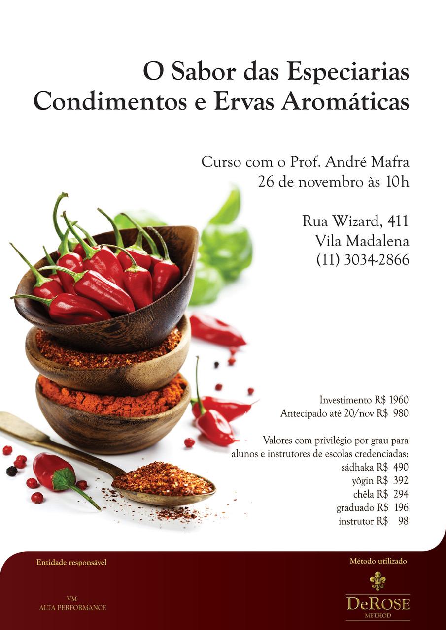 Dia 26 de novembro tem curso na vila madalena em São Paulo